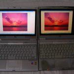 WindowsXPから7のアップグレードで、1024x768にしか解像度が変更で