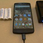 エネループ4本で、スマホ(Nexus 5)はどこまで充電できるか?
