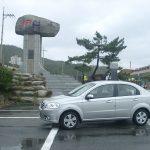 10韓国旅 国境ドライブ2 いきなり雪道と東海岸38度線