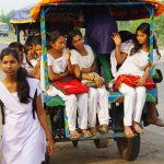 (94)インドの西ベンガル州の田舎にて