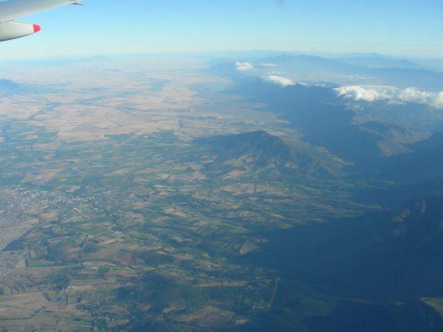 南アフリカ 上空