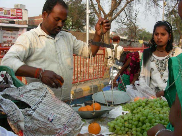 インドの果物売り