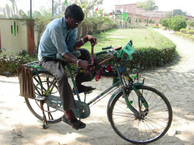 自転車で研ぐ