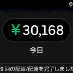 UberEats 178日目 業務日報8月 雨の味を知った男、1日3万円突破!